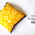 high on NATURAL TIE-DYE PILLOW diy