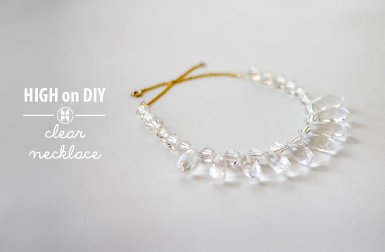 Diy Clear Ombre Crystal Necklace High On Diy