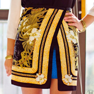 DIY Scarf-Print Wrap Skirt
