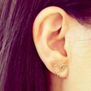 DIY Clip-On Heart Earring