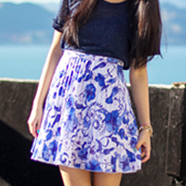 DIY Porcelain Print Skirt