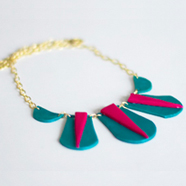 DIY Colorblock Bib Necklace