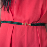 DIY Gold Accent Rope Belt