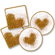 DIY Glitter Heart Coasters