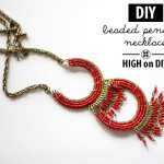 high on BEADED PENDANT NECKLACE diy