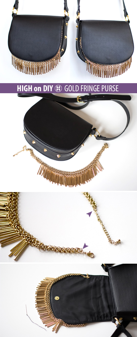 DIY_Gold, Metal_Fringe_Purse_Bag_Steps