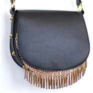 DIY Gold Fringe Purse