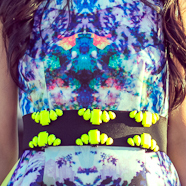 DIY Neon Statement Belt