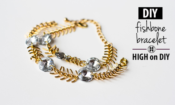 DIY_Fishbone_Chain_Crystal_Bracelet_1