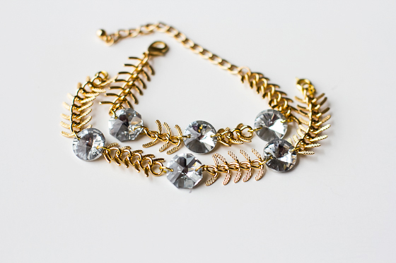 DIY_Fishbone_Chain_Crystal_Bracelet_3