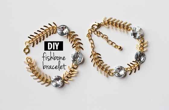 DIY_Fishbone_Chain_Crystal_Bracelet_4