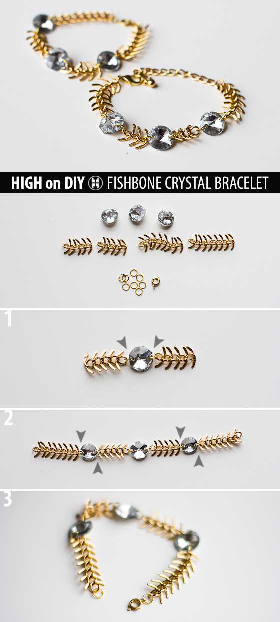DIY_Fishbone_Chain_Crystal_Bracelet_Steps