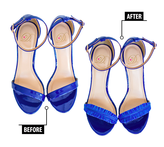 DIY_OscarDeLaRenta_Inspired_Feather_Heels_Sandals_BeforeAfter