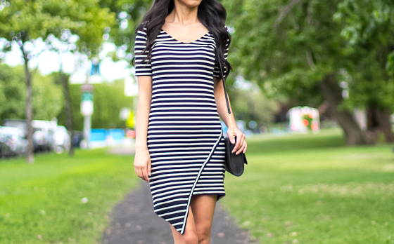 DIY_Asymmetric_Hem_Striped_Dress1