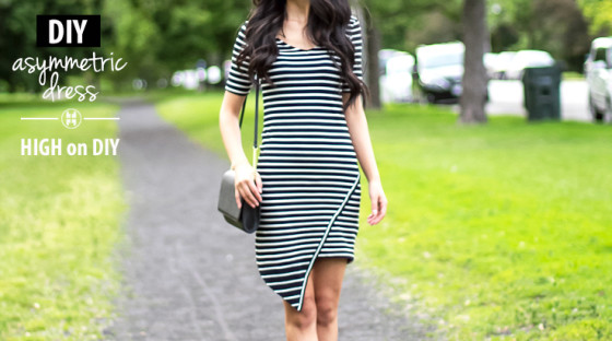 DIY_Asymmetric_Hem_Striped_Dress2