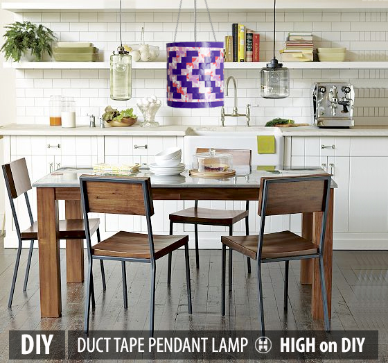 DIY_Duct_Duck_Tape_Pendant_Lamp_Shade5