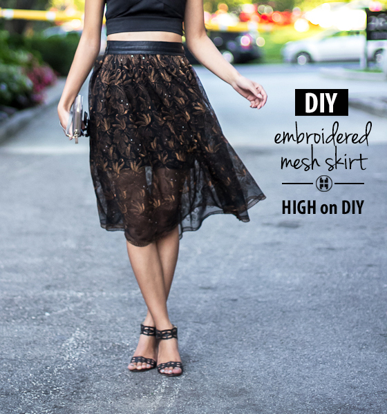 DIY_Embroidered_Mesh_Leather_Full_Midi_Skirt
